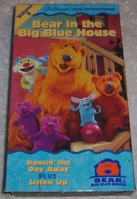 Bear in the Big Blue House, Vol. 3 - Dancin' the Day Away / Listen Up VHS Video (Bear Inthe Big Blue House Listen Up)