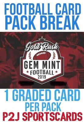 Gold Rush 2019 Gem Mint FOOTBALL CARD PACK BREAK 1 RANDOM TEAM Break 832 NFL