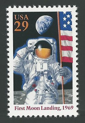 Apollo 11 25th Anniversary First Man on Moon Neil Armstrong NASA US Space Stamp!