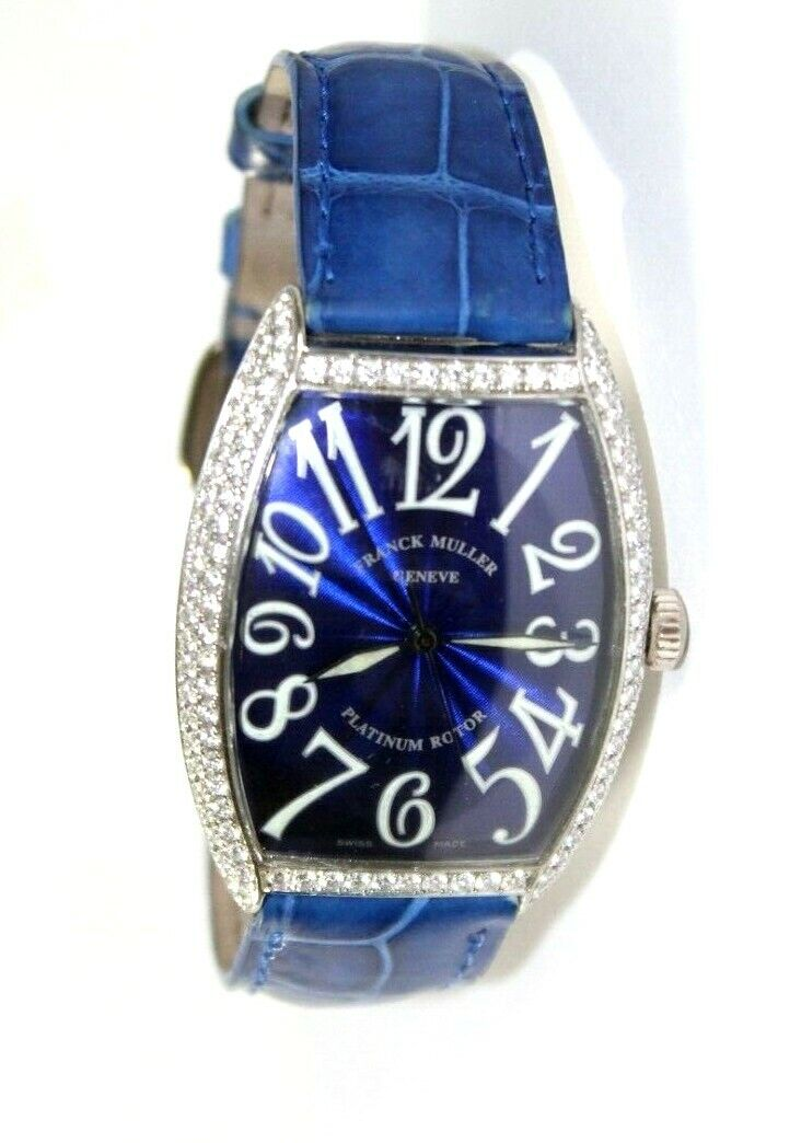 Franck Muller Master of Complications 18K GOLD 1.90 Ct. Diamond Blue Watch #6850 - watch picture 1