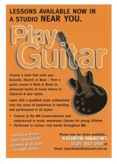 Guitar / Bass / Uke Lessons ~ Tuition ~ Teacher **IN YOUR HOME**
