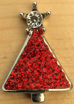 Christmas Tree Star Charm - ## Snap Chunk Button Red Christmas Tree Star Charm For Ginger Snap Style Jewelry