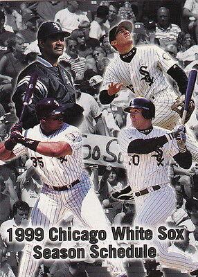 1999 CHICAGO WHITE SOX BASEBALL POCKET SCHEDULE