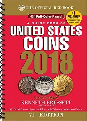 A Guide Book Of United States Coins 2018 The Official Red Book  Spiral