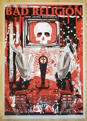 2004 Bad Religion - Dallas Silkscreen Concert Poster A/P by Todd Slater