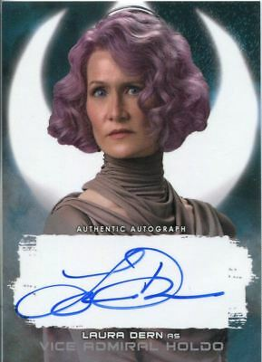 Star Wars Last Jedi S2 Silver  25  Autograph Card Laura Dern As V Admiral Holdo