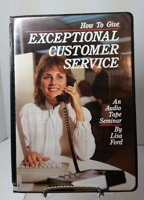 Exceptional Customer Service Cassette Tape Seminar Lisa Ford Career Track 1987