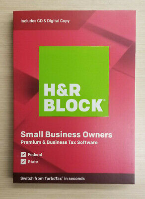 Hr Block Small Business Owners Premium Business Tax Software 2019 Ships 3 Day