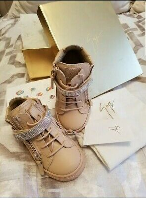 Giuseppe Zanotti Sneakers dolly junior Crystal Embellished Leather size 24 $495
