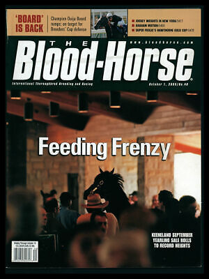 2005 Blood Horse Magazine (Oct 1) Keeneland Graham Motion Super -
