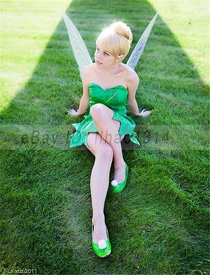 Halloween Costumes With Short Hair (Women's Halloween Costume Cos Wigs with Hair Bun Tinker Bell Hair Short Blonde)
