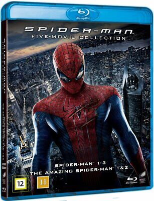 Spiderman Spider-man Five Movie Collection 5 Blu-Ray Set BRAND NEW Free Ship