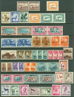 Edw1949sell   South West Africa Nice Collection Of All Vf Mog Better Sgls   Sets