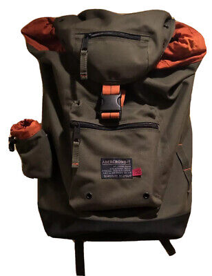 Abercrombie And Fitch New Backpack Duffle Bag Army Green Canvas XXL DC:3912:00