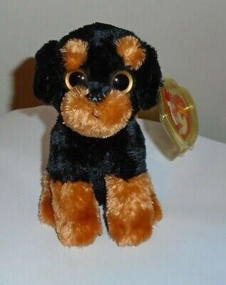 Ty Beanie Baby ~ BRUTUS the Rottweiler Dog (2012 Big Eyes Version)(6 Inch) MWMT