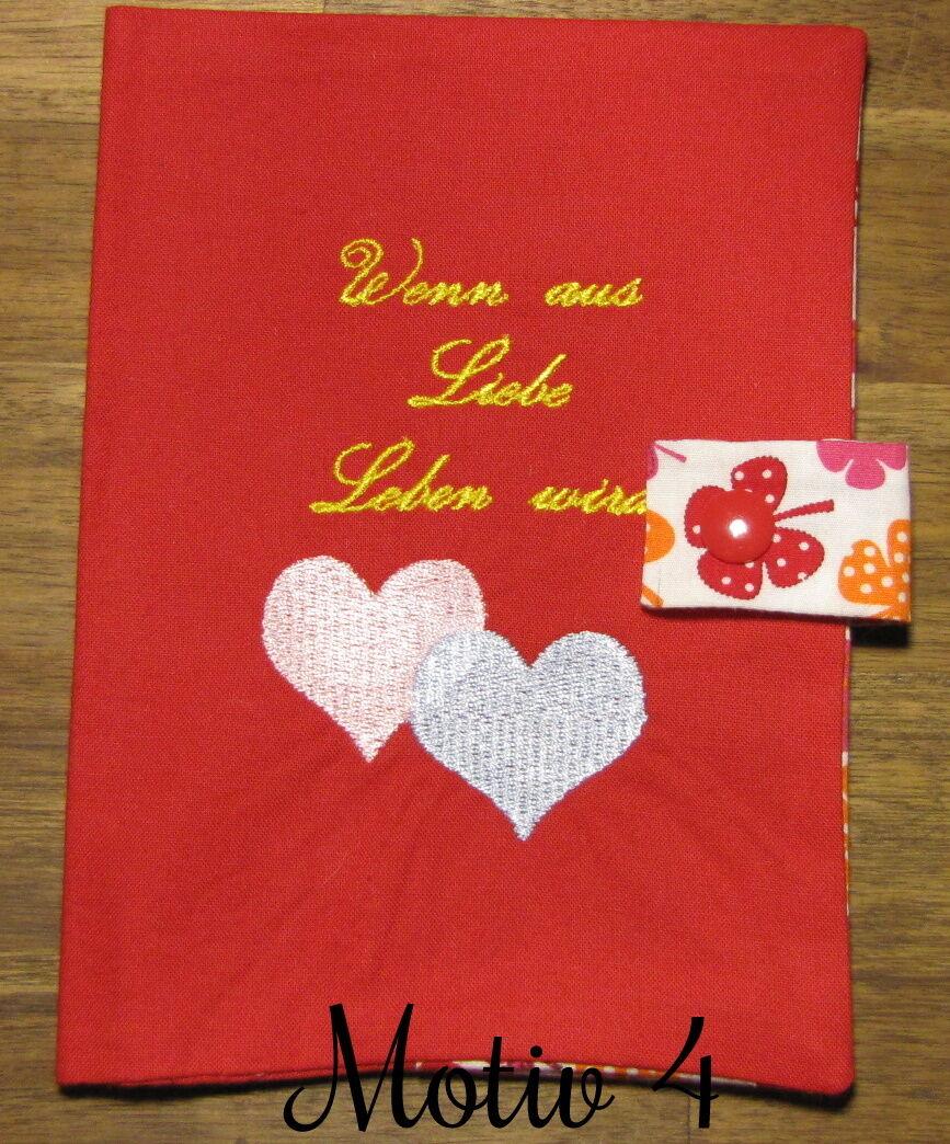 Mutterpasshülle | Geschenk | Handgemacht Rot Motiv 4