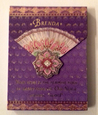 Magnetic NOTEBOOK FLIP TOP Name BRENDA LILAC/GOLD/PEACH Name from NORSE/SWORD ()