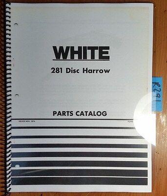 Wfe White 281 Disc Harrow Parts Catalog Manual 438 164 1174