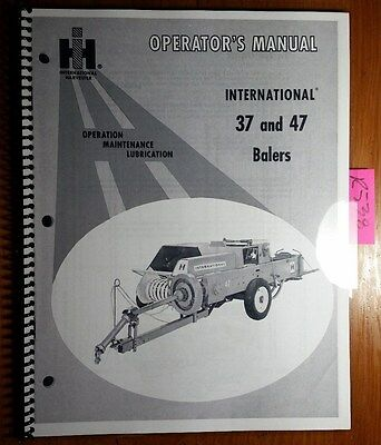 Ih International Harvester 37 47 Baler Owner Operators Manual 1 010 373 R5 468