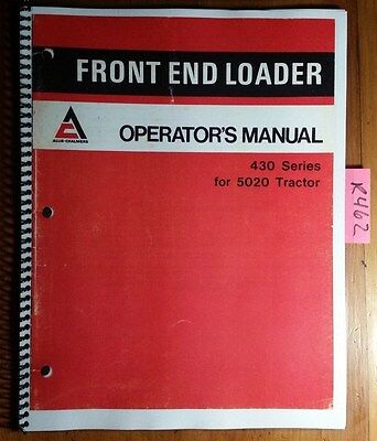 Allis-chalmers 430 Series Front End Loader For 5020 Tractor Operators Manual 77