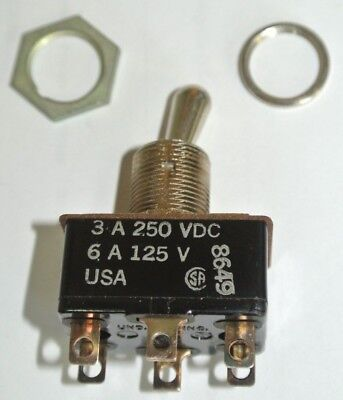 Cutler-hammer 8373k107 Toggle Switch Dpdt On-none-on 3a 250vdc 6a 125v New Surpl