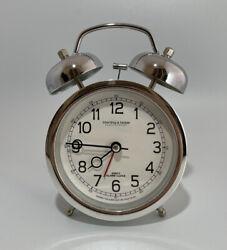 Sterling & Noble Quartz Alarm Clock - Loud, Silver