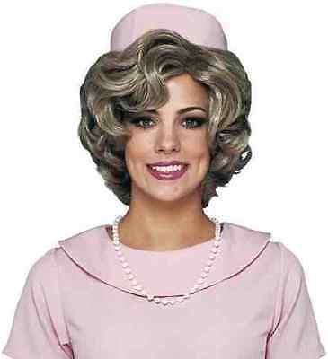 Classy Lady Wig 50's Jackie O Fancy Dress Halloween Costume Accessory 2 COLORS](Jackie O Halloween)