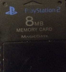 PS2 memory card w/ game saves