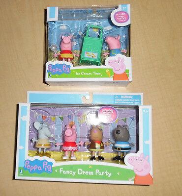 Peppa Pig 6 Toy Figures George Emily Pedro Danny Fancy Dress Party Nip Fun New