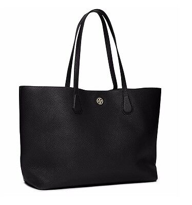 NWT 100% Authentic Tory Burch Perry Tote Bag in Black; $395 + TB Gift Paper Bag