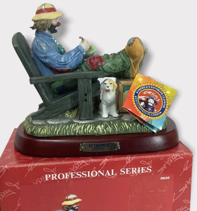*RARE* Emmett Kelly Jr Flambro Retirement EKJ Clown Figurine Limited Edition S53