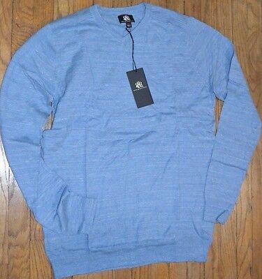Light Blue Rock & Republic Light Weight V Neck Sweater Big & Tall Collection  (Light Blue Rock)