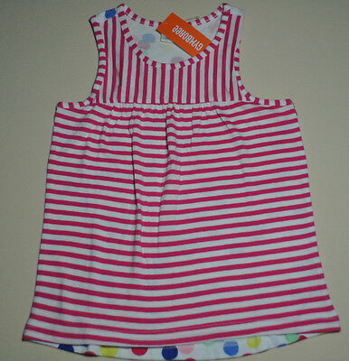 Gymboree girl size S small 5 - 6 NWT lilac tee tank top girls striped front dots