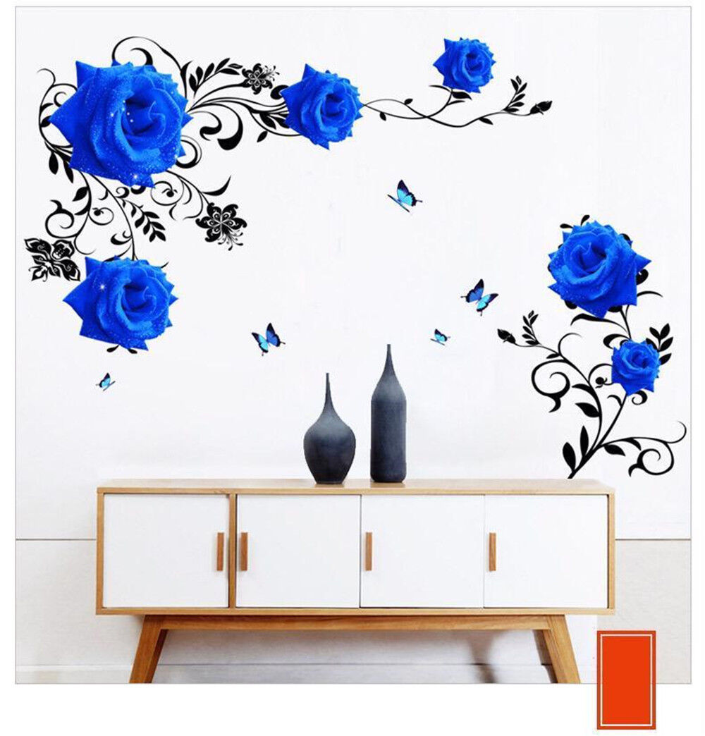 Floral Wall Decal Sticker Home//Store Decor DIY Removable For Sofa//TV background