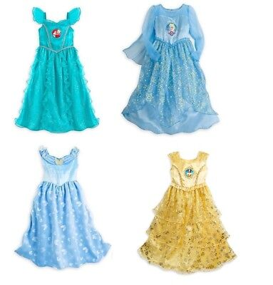 Disney Store princess deluxe nightgown sleepwear pajamas U CHOOSE - Disney Princess Sleepwear