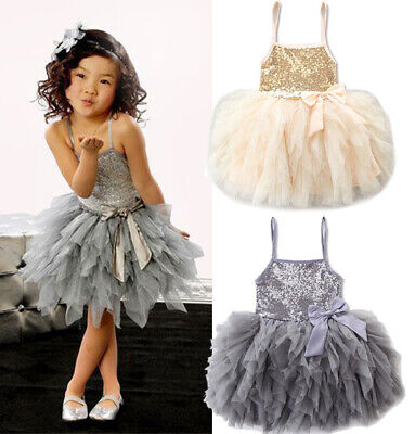 Princess Wedding Party Prom Birthday Dress Skirt Tutu Dresses For Baby Girl 2-7Y](Birthday Dresses For Girls)