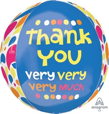 NEW Thank You Very Much Foil Orbz Balloon 15x16