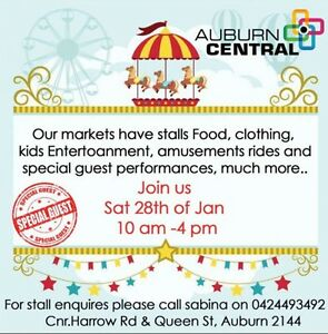Stall holders wanted auburn central family markets Chester Hill Bankstown Area Preview