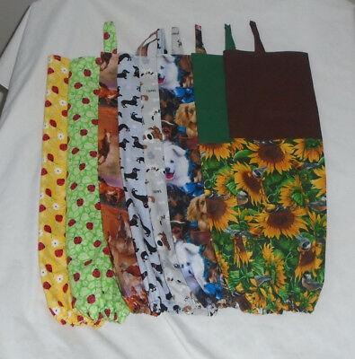 Homemade Fabric Plastic Grocery Bag Holder Animal Design