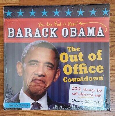 Barack Obama Calendar The Out Of Office Countdown 2010 Collectible Art  Barack Obama 2010 Calendar