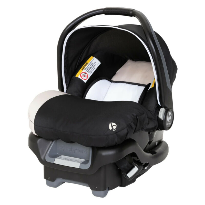 Baby Trend Ally 35 Newborn Baby Infant Car Seat Travel System with Cover, Khaki
