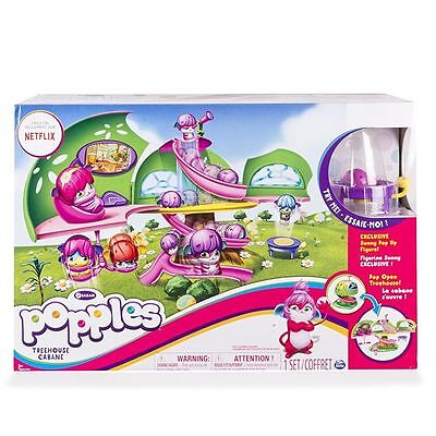 New Popples Deluxe Pop Open Treehouse Playset With Pop Up Transforming Netflix