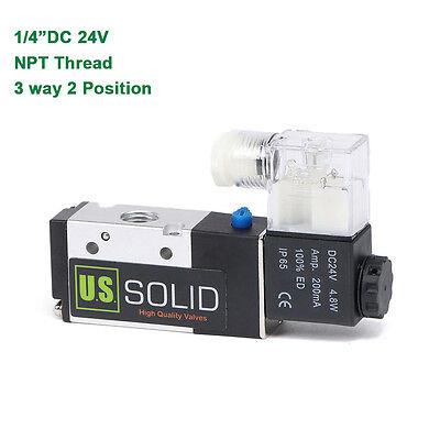 U.s.solid 14 Npt 3 Way 2 Position Pneumatic Electric Solenoid Valve Dc 24 V