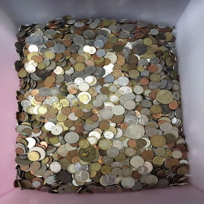 Unsearched World Coin Pound Lb Lot   1Lb  Mixed Foreign Coin Lot By Weight