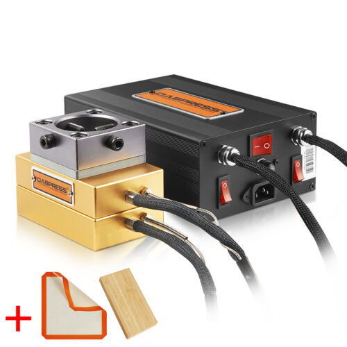 "Dabpress New 3x5"" Rosin Press Plates Kit - Build 10 - 12 Ton Hydraulic Extractor"