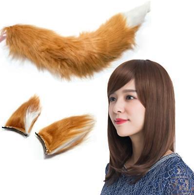 NEW Globe.f.C Fox Cosplay Fairy of Kitsune Udon Tail Ear Wig Riho Yoshioka - Fox Tails Kostüm