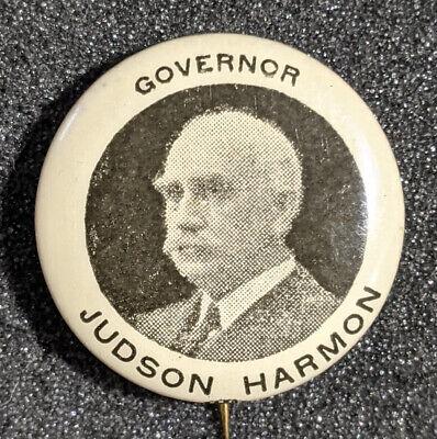 Vintage 1908 Governor Judson Harmon Ohio Campaign Pinback