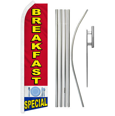 Breakfast Special Swooper Flutter Feather Advertising Flag Kit Food Here Diner