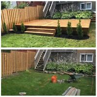 Decks, Fences, Interlock, Sod, Landscape Design, Gardening