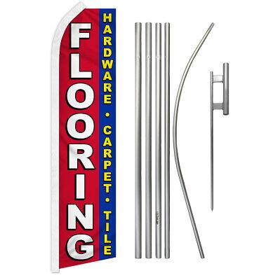 Flooring Swooper Flutter Feather Advertising Flag Pole Kit Flooring Carpet Tile